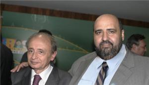 O ministro Marcio Fortes das Cidades e o prefeito carapicuibano Sergio Ribeiro