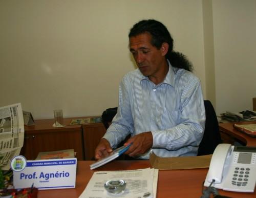 Agnério quer transparência com o dinheiro público